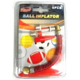 96 Units of 5 Piece Ball Inflator Pin Set - Balls