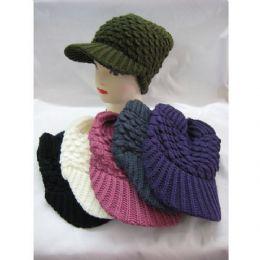 60 Units of Ladies Croche Like Acryic Winter Hat - Fashion Winter Hats