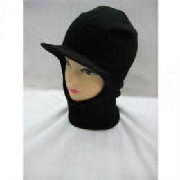 96 Units of Winter Face Cap Black - Winter Beanie Hats