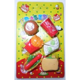 72 Units of Assorted Pencil Erasers - Erasers