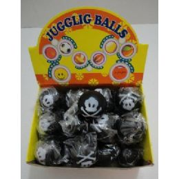 "288 Units of 2.75"" Black Skull & Crossbones Squish Ball - Balls"