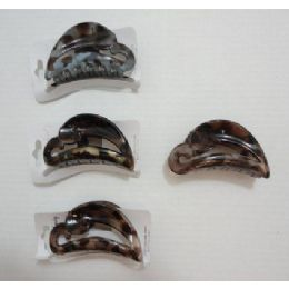 """36 Units of 3.5"""" Claw Clip-Marbled - Hair Accessories"""