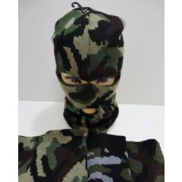 72 Units of Ski Mask--Camo - Unisex Ski Masks