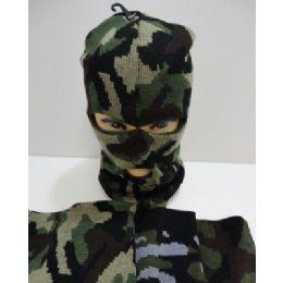 120 Units of Ski Mask--Camo - Unisex Ski Masks