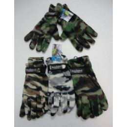 144 Units of Men's Camo Fleece Glove-Thermal Insulate - Fleece Gloves