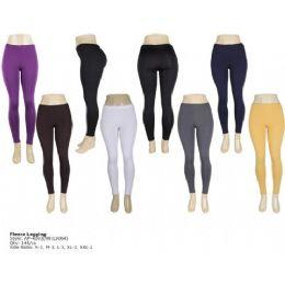 144 Units of Seemless Fleece Legging For Ladies - Womens Leggings