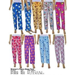 96 Units of Ladies Fleece Lounge Pants - Women's Pajamas and Sleepwear