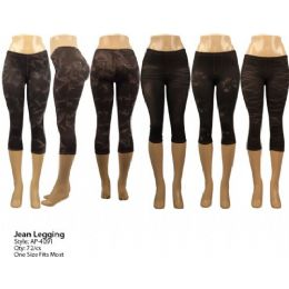 72 Units of Ladies Denim Like Legging - Womens Leggings