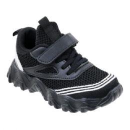 36 Units of Boys Sneaker Casual Sports Shoe In Black - Boys Sneakers