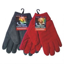 72 Units of WINTER Fleece Glove Women HD - Fleece Gloves
