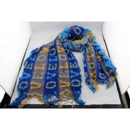 72 Units of Fashion Scarf with Letters - Winter Scarves