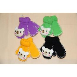 72 Units of Kids Mittens With Squeaky Charaters - Kids Winter Gloves