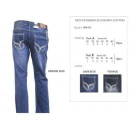 12 Units of Mens Vintage Trendy Jeans - Mens Jeans