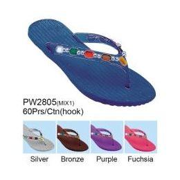 60 Units of Ladies Fashion Sandals Assorted Colors - Women's Sandals