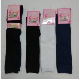 "120 Units of 15"" Kids Knee High Socks 6-8--Solid Color - Girls Crew Socks"