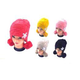 36 Units of Ladies Pom Pom hat - Winter Helmet Hats