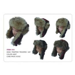 36 Units of Trapper Trooper Hat With faux Fur Heavy Duty - Trapper Hats