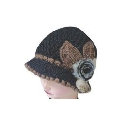 60 Units of Heany Knit Winter Floral Hat - Fashion Winter Hats