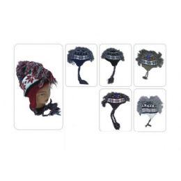 60 Units of Mohawk Fur Winter Hat With Ear Flap - Winter Helmet Hats