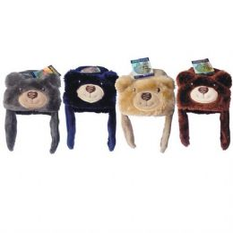 36 Units of Kids Animal Bear Hat Assorted Colors - Winter Animal Hats