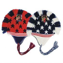 24 Units of Winter Helmet Mohawk Hat Star & Stripe Unisex - Winter Helmet Hats