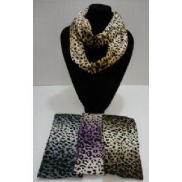 48 Units of Loop Scarf-Leopard Print - Winter Scarves