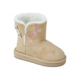12 Units of Girls Boots Beige Color - Girls Boots