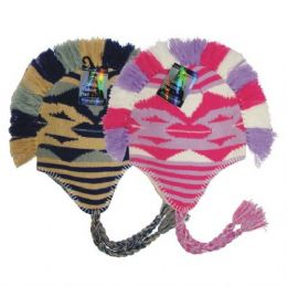 24 Units of Winter Helmet Mohawk Hat Triangles - Winter Helmet Hats