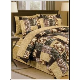 6 Units of Safari Print Bed In A Bag King Size - Bed Sheet Sets