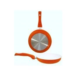 8 Units of 8 Inch Ceramic Fry Pan ORANGE - Frying Pans and Baking Pans