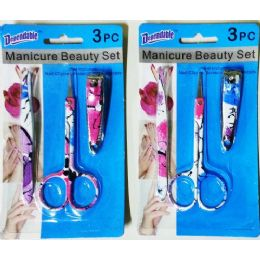 48 Units of 3 Pack Manicure Set - Manicure and Pedicure Items