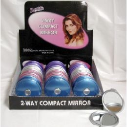 144 Units of Compact Mirror on Counter Display - Wall Decor