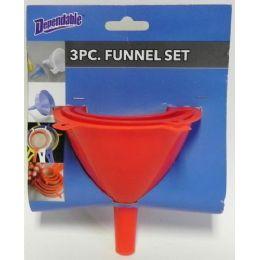 36 Units of 3 Piece Funnel Set - Kitchen Utensils