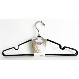 48 Units of Metal 3 Pack Clothes Hanger Black - Hangers