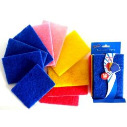 48 Units of Hand Shape Scouring Pads 2 Pack - Scouring Pads & Sponges