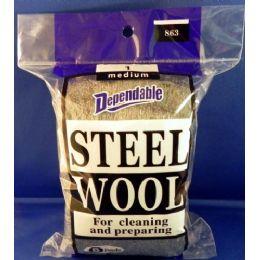 24 Units of No.1 Steel Wool Medium - Scouring Pads & Sponges