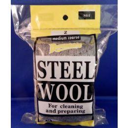 24 Units of No 2 Steel Wool Medium Coarse - Scouring Pads & Sponges