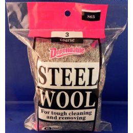 24 Units of No 3 Coarse Steel Wool - Scouring Pads & Sponges