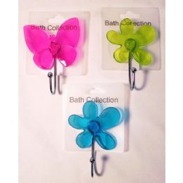 36 Units of Bath Collection Fancy Suction Hook - Hooks