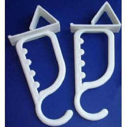 48 Units of 2 Pack Plastic Over The Door Hook - Hooks