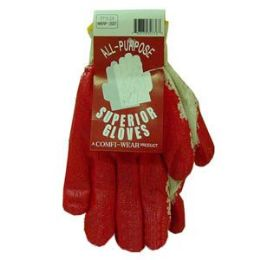 70 Units of All Purpose Painted Palm Gloves - Working Gloves