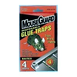 48 Units of Baited Disposable Mouse Glue Trap 4 Pack - Pest Control