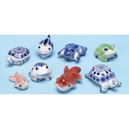 48 Units of Porcelain Sea Animals - Fishing Items