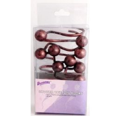 12 Units of Bronze Shower Curtain Hooks Ball - Hooks