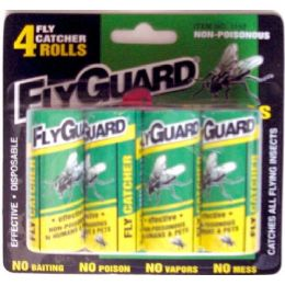 72 Units of 4 Pack Fly Ribbon - Pest Control
