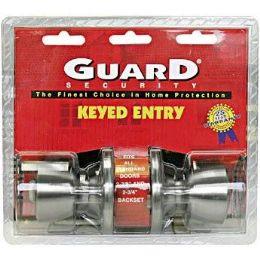 6 Units of Silver Keyed Entry Doorknob Set - Doors