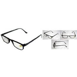 72 Units of Black Shiny Half Eye Reading Glasses - Reading Glasses