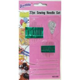 36 Units of 27 Piece Sewing Needles - Sewing Supplies