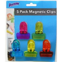 48 Units of Magnetic Clips 5 Pack - Refrigerator Magnets