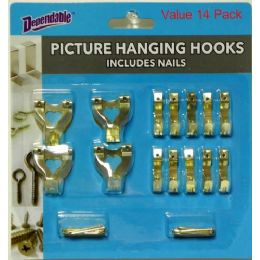 48 Units of 14 Piece Picture Hooks - Hooks